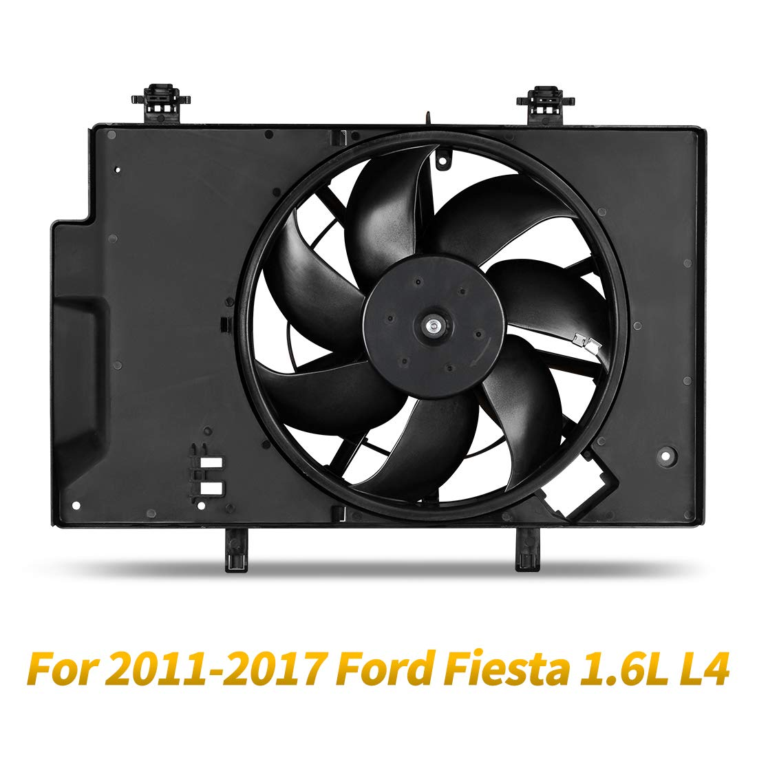 Radiator Condenser Cooling Fan Assembly For 2011-2017 Ford Fiesta 1.6L L4
