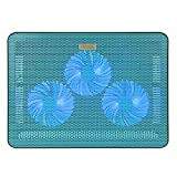 Laptop Fan - iKross 3 LED Cooling Pad Chill Mat with 118mm Fans fits up to 17.3 inch Laptop - Blue