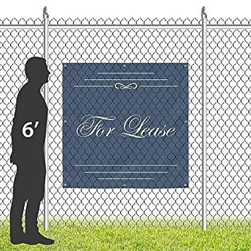8x8 CGSignLab Classic Navy Wind-Resistant Outdoor Mesh Vinyl Banner for Lease