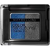 Sombra Duo Color Sensational, Maybelline, Azul Metálico e Prata