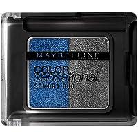 Sombra Duo Color Sensational, Maybelline, Azul Metálico/Prata