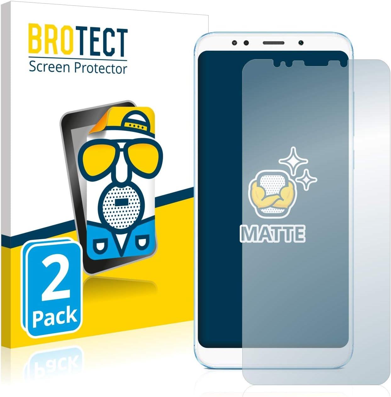 BROTECT Protector Pantalla Anti-Reflejos Compatible con Xiaomi Redmi 5 Plus (2 Unidades) Pelicula Mate Anti-Huellas