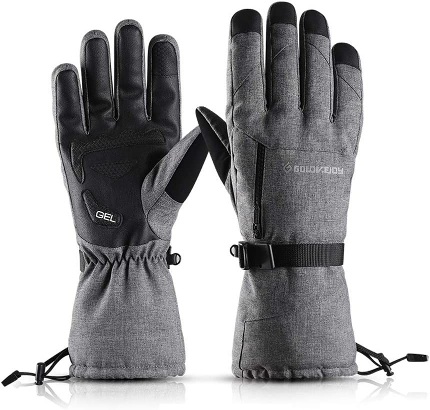 levliong Winter Ski Gloves Men Women, Thermal Gloves Touch Screen,Ski Gloves Waterproof Windproof Warm Winter Skiing Mittens: Amazon.es: Deportes y aire libre
