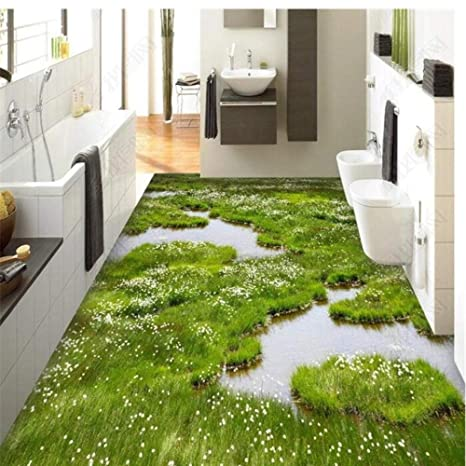 Pbldb Custom Flooring 3d Large Mural Plants Flower Grass 3d Living