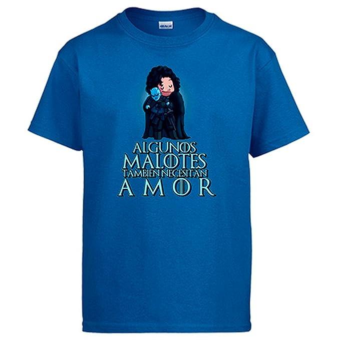 Diver Camisetas Camiseta Juego de Tronos Jon Snow y Caminante Blanco Algunos malotes También Necesitan Amor San Valentín: Amazon.es: Ropa y accesorios