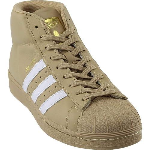 9a6712dd0326 adidas Pro Model Men s Shoes Khaki White Metallic Gold cg5072 (7.5 D(