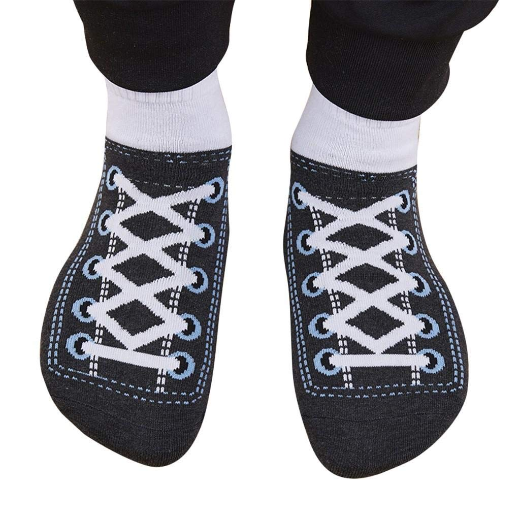 Islandse5 Pair Women Men Special Cotton Socks Imitated Sports Shoes Print Winter Socks by Islandse_💗Jewelry&Watches