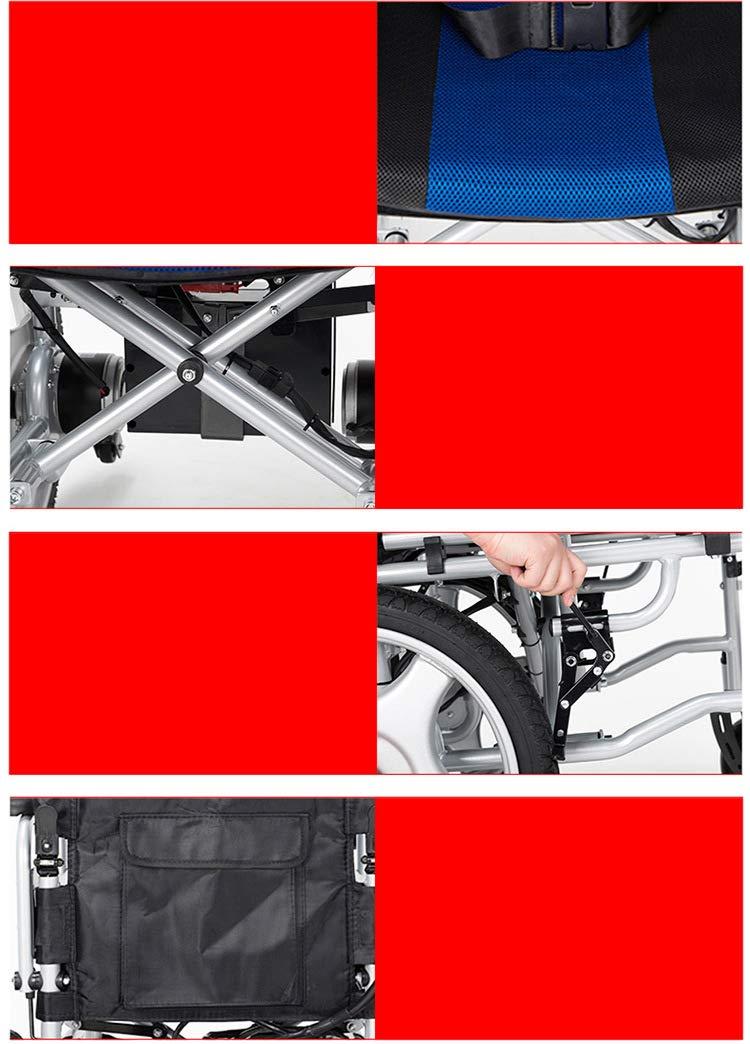 Rodillo auxiliar de aleación de aluminio para silla de ruedas eléctrica, fiable, no es fácil de deslizar, interruptor plegable fácil de usar, la estabilidad ...