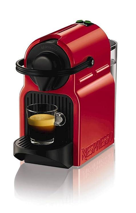 Máquina de cápsulas de café Krups Nespresso Inissia, color rojo rubí Inissia Ruby Red