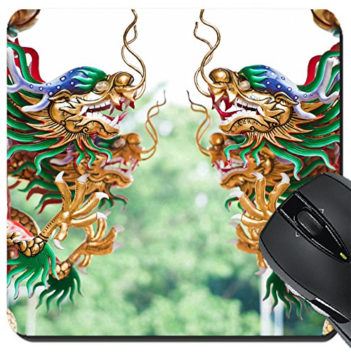 MSD Suqare Mousepad 8x8 Inch Mouse Pads/Mat design: 10540069 Dragons in chinese - Temple 427