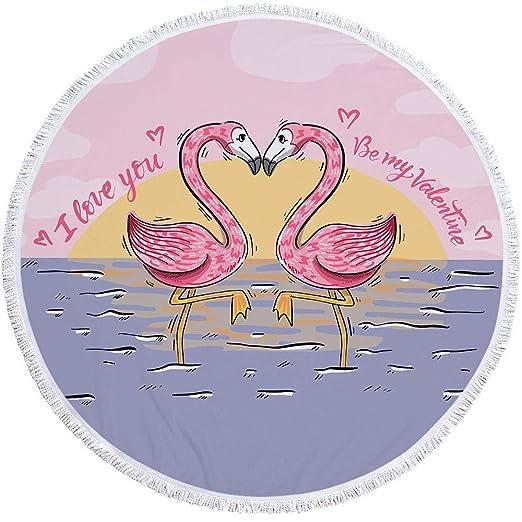 2019 Nuevo Toalla De Playa Estampada Redonda Flamingo Verano ...