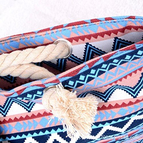colore Spalla Donne Di Del Totes Rosso Tela Sacchetto Tinksky Spiaggia Borsa zZwFCAqxC