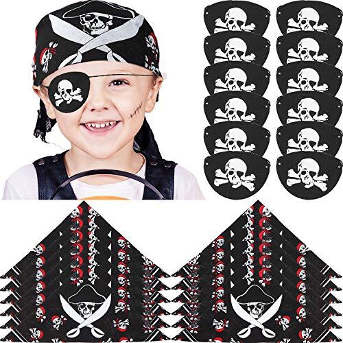 24 Pieces Pirate Bandana and Felt Pirate