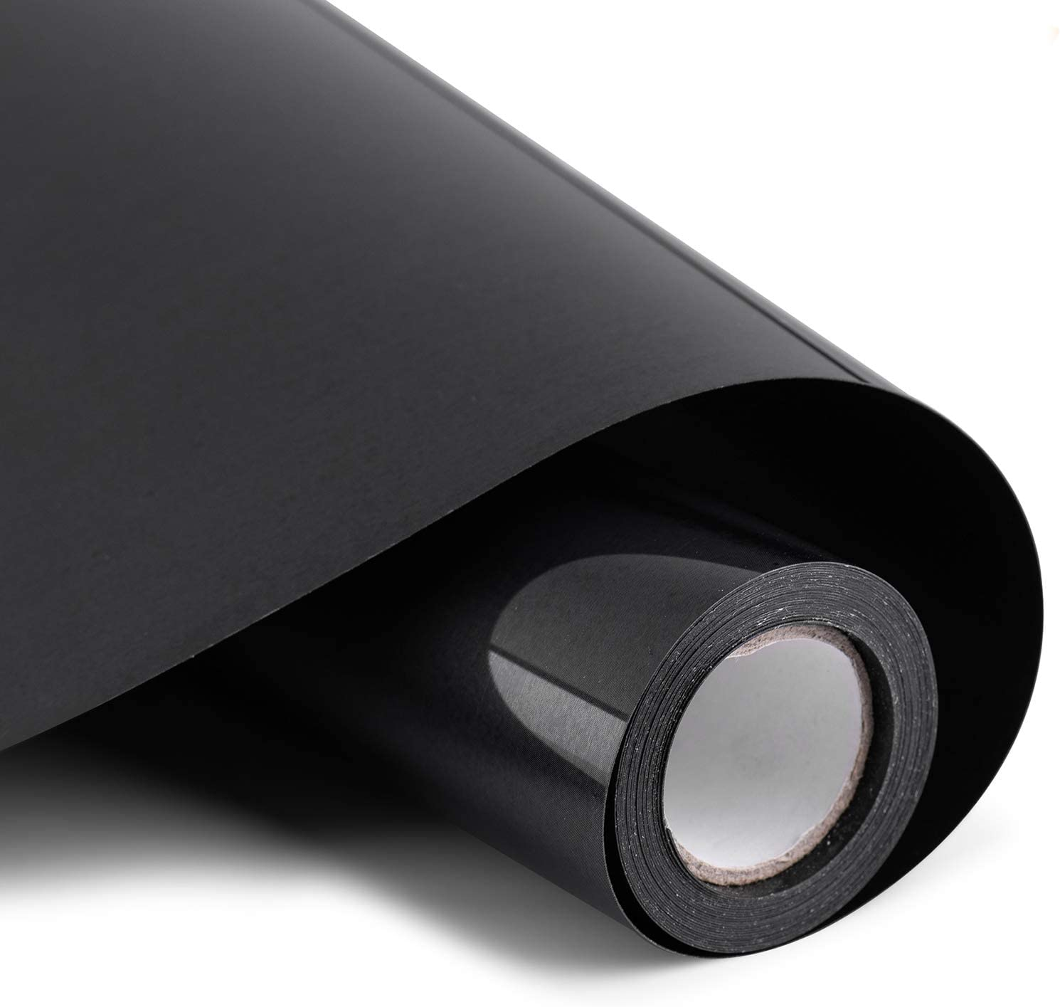 """Heat Transfer Vinyl 12"""" x 10' Feet Rolls, PU HTV Bundle by Somolux for Cricut and Silhouette Cameo Easy to Cut & Weed, DIY Heat Press Design for T-Shirt, Clothes, Hats and Other Textiles (Black): Home & Kitchen"""