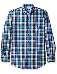 Izod Men's Long Sleeve Twill Easy-Care Plaid Shirt