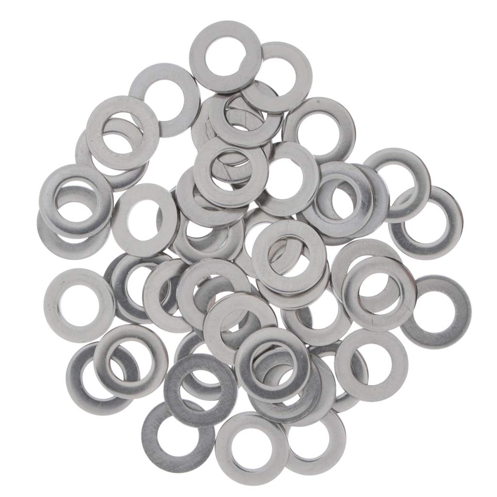Baosity 105PCS Flat Washers Fit Metric Bolts & Screws Stainless Steel Gaskets Spacer M3. M/4,M5, M6, M8, M10