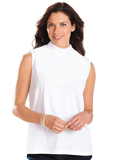 64edf88848c800 Sleeveless Mock Neck Top at Amazon Women s Clothing store
