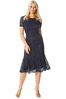 Roman Originals Women Textured Dress Coat Ladies Formal Smart Co-ord Wedding Guest Mother of The Bride//Groom Special Occasion 3//4 Sleeve Long Jacket