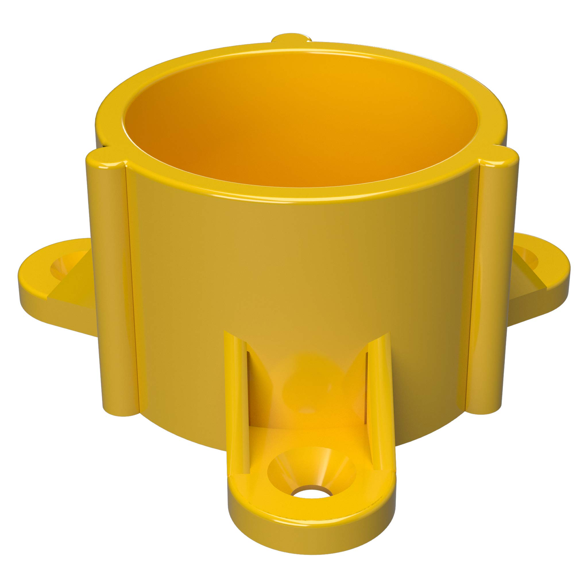 FORMUFIT F114ECT-YE-10 PVC Table Cap, Furniture Grade, 1-1/4'' Size, Yellow (Pack of 10)