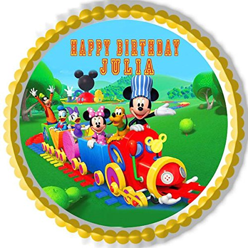 Mickey Mouse Clubhouse Train - Edible Cake Topper - 7.5