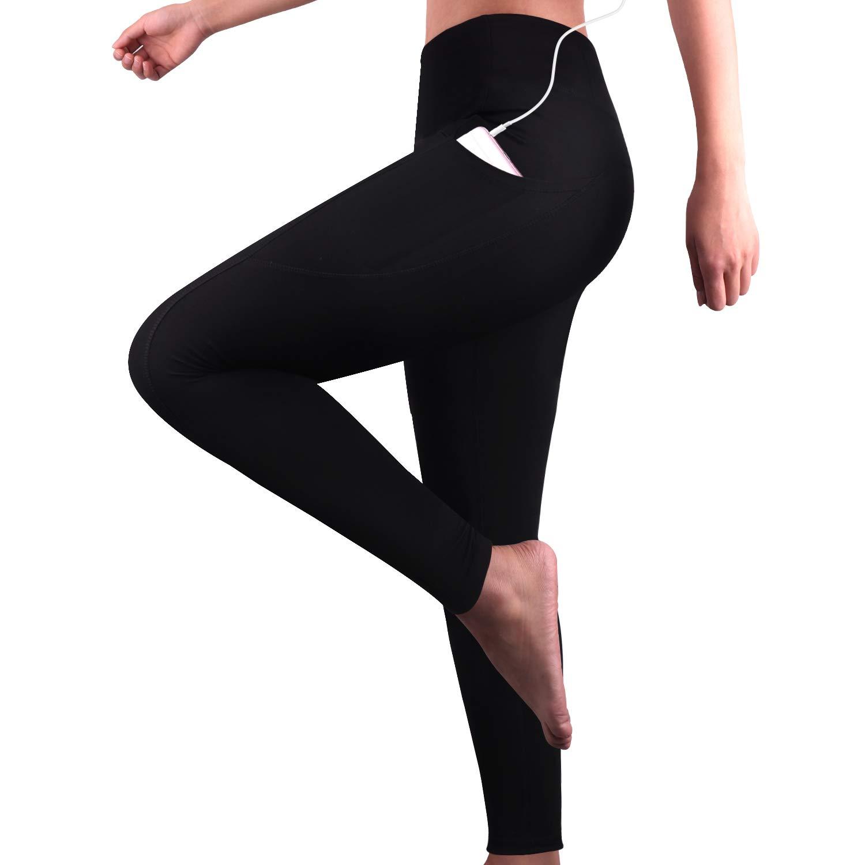 GRAT.UNIC Leggings Sportivi Donna, Donna Capri Leggings con tasche laterali, Maglia Eleganti Leggings Sport, Allenamento Opaco Yoga Fitness Spandex, Palestra Pantaloni Leggings Push Up