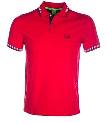 Hugo Boss Polo - Hombre Paul Polo EN Rojo - Rojo, X-Large: Amazon ...