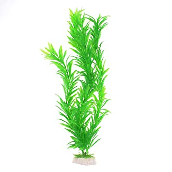 sourcingmap Plástico Pecera Hierba/Plant Decor, 15.7-Inch, Verde: Amazon.es: Productos para mascotas