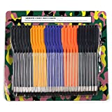 Ace Martial Arts Supply Crossbow Arrows with High Impact Bolts (36 -Piece), 50-Pounds and 80-Pounds (Plastic)