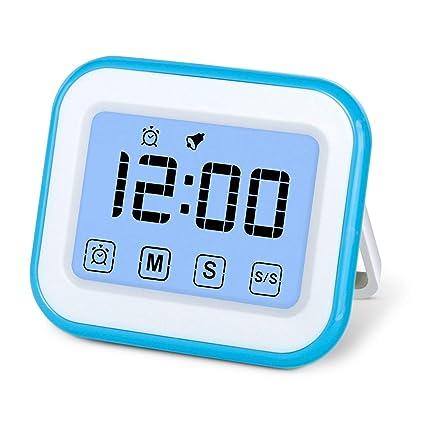 MOSUO Temporizador de Cocina, Cronómetro con Pantalla táctil, Temporizador Digital Magnético/Reloj/