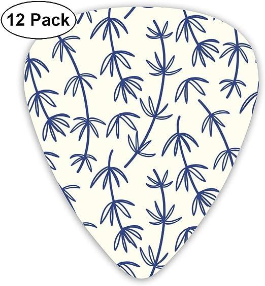 Slaytio 12 púas de Guitarra Hechas a Mano de bambú, diseño Floral ...
