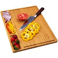 Deals on Allsum Large Bamboo Wood Cutting Board for Kitchen