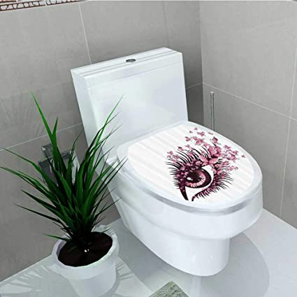 Incredible Amazon Com Printsonne Toilet Seat Sticker Female Eye Pabps2019 Chair Design Images Pabps2019Com