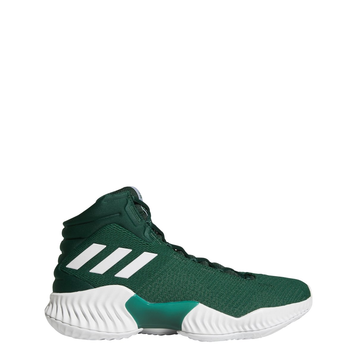 adidas Men's Pro Bounce 2018 Basketball Shoe, Dark Green, 5 M US