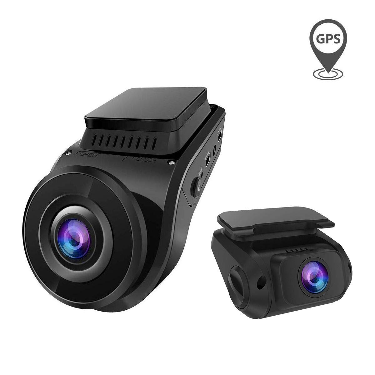 Built in GPS Dual Dash Cam, Vantrue S1 Dual 1080P Front and Rear Dash Camera, Super Capacitor 2'' LCD 2880x2160P Single Front Hidden Car Camera with Sony Night Vision, Parking Mode, Support 256G Max by VANTRUE