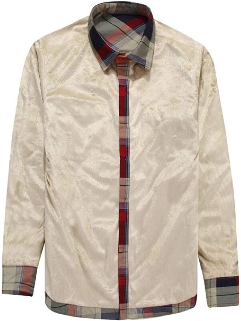 Camisa Informal de Manga Larga con Forro Polar y Botones de