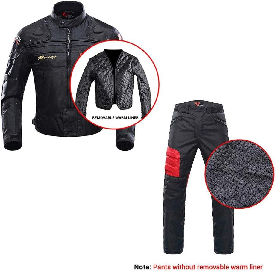 ANTLEP Motorradkombi Jacke Textil Hose Klage Wasserdichtes Und CE gepanzerte Kleidung f/ür alle Wetter