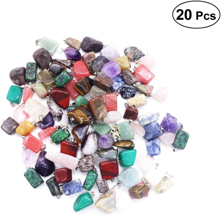 Healifty - Piedras de curación de cristal de cuarzo, formas irregulares, para elaboración de joyería