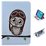 "Galaxy Tab A 8.0"" case, ANGELLA-M Executive Fold Stand Soft Cover with Card Slots Tablet Flip Case for Samsung Galaxy Tab A 8.0 SM-T350 (2015) Cute Owl"