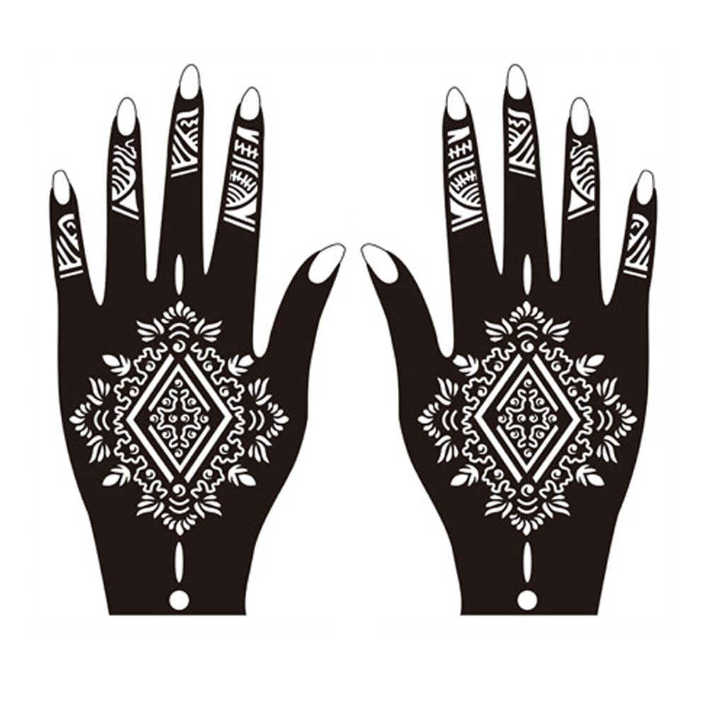 henna tattoo stencils hand body art painting template temporary