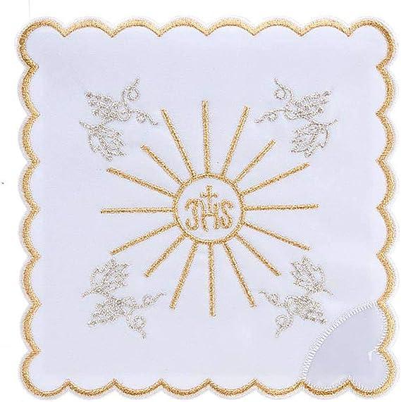 Servicio para la Misa 4 Piezas con Bordado s?mbol IHS: Amazon.es ...