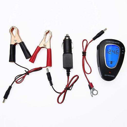 ULTRAPOWER 6V//12V//24V Comprobador de bater/ía Inteligente LCD Automotriz Digital Medidor de Voltaje Analizador para bater/ías de Plomo-/ácido