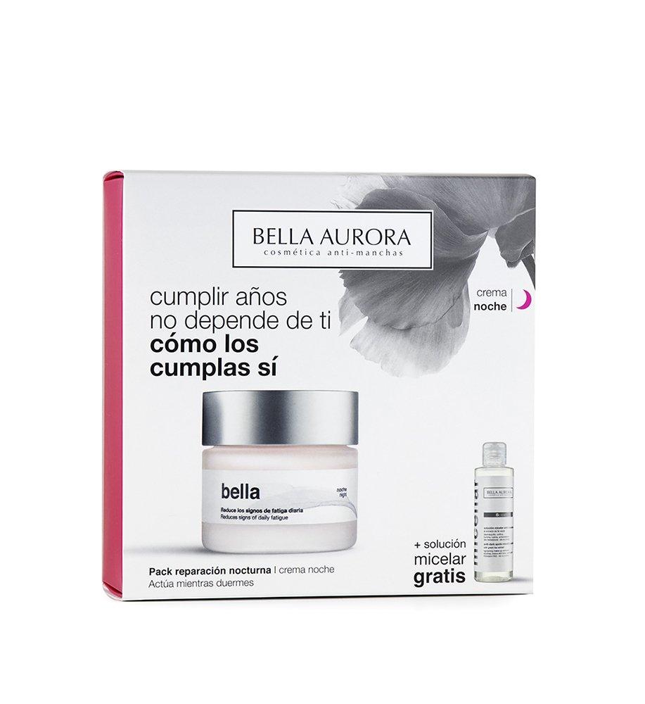Bella Aurora Set De Crema De Noche y Solución Micelar: Amazon.es