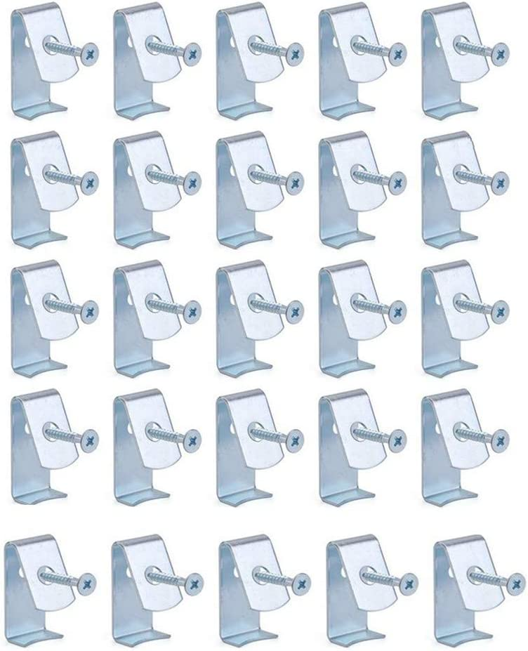 25 Pcs Flower Pot Clips, Durable Hard Galvanized Steel Flower Pot Hanger Hooks- Holds 3.5