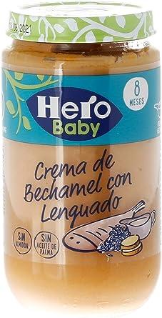 Hero Baby Lenguado con Crema de Bechamel Tarritos de Puré para Bebés a partir de 8 meses Pack de 6 x 235 g: Amazon.es: Alimentación y bebidas