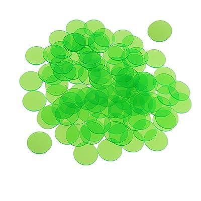 Baoblaze 300 Pedazos Chips Fichas Marcadores para Juego de Bingo Verde: Juguetes y juegos