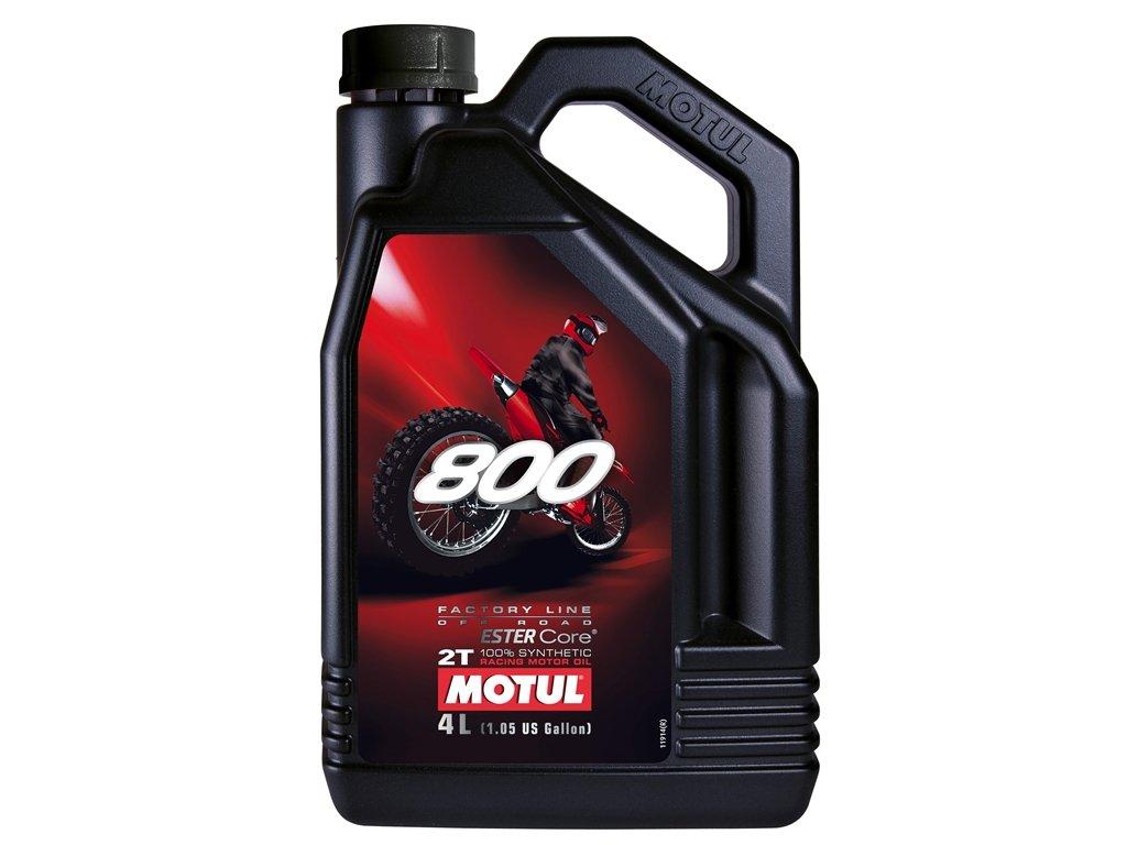 Motul 800 2T Factory Line Off Road Olio motore, 4 litri 4litri 104039