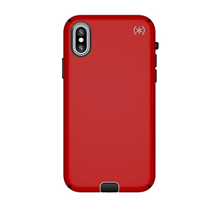 best website bf357 3a394 Speck Products Compatible Phone Case for Apple iPhone Xs and iPhone X,  Presidio Sport Case, Heartrate Red/Sidewalk Grey/Black