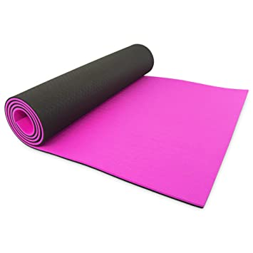 GOFLX™ Extra Thick 8mm Yoga/Pilates / Exercise Mat with ...