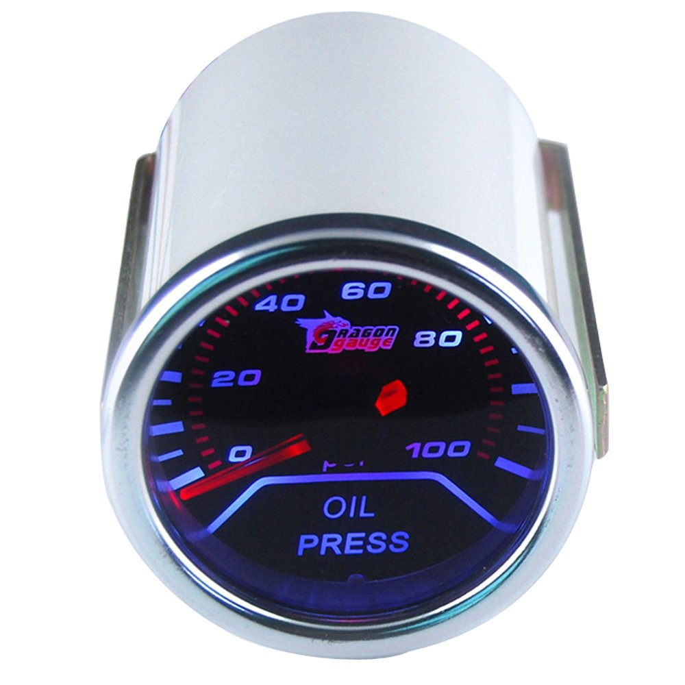 ESUPPORT Car 2'' 52mm Oil Press Gauge Meter Pressure Automotive by ESUPPORT