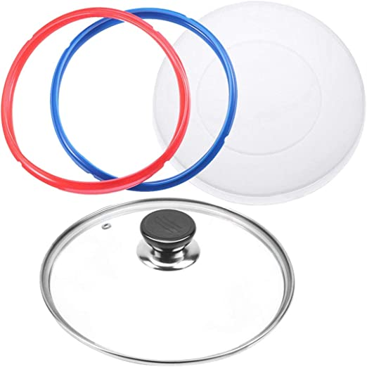 2pcs Silicone Sealing Ring Gaskets Silicone Inner Instant Pot Lid Cover 5//6 Qt